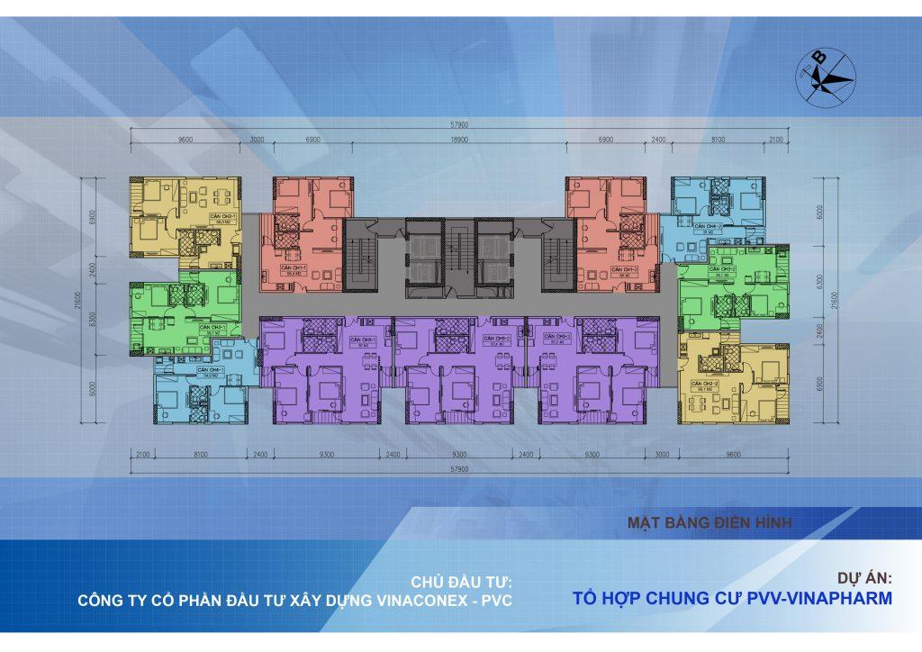 Chung cu 60B Nguyen Huy Tuong - mặt bằng thiết kế căn hộ