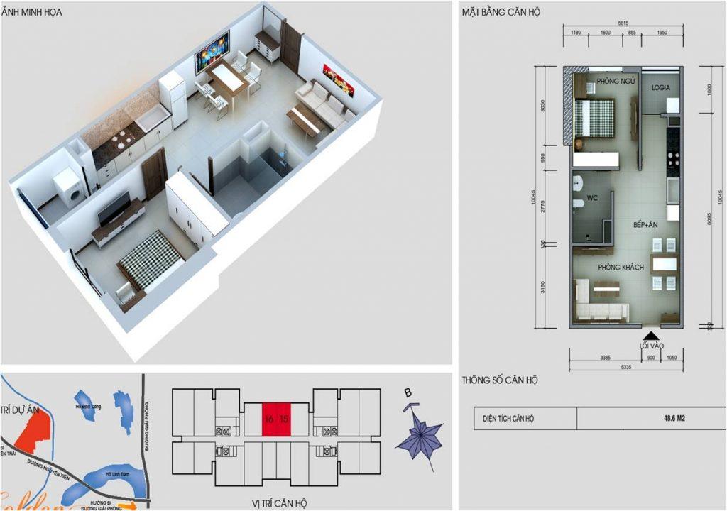 Tòa C chung cư vinaconex 2 - căn 15 và 16
