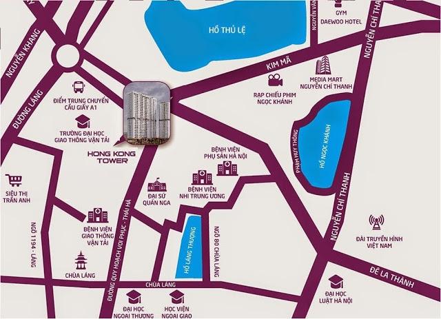 Chung cư HongKong Tower - Vị trí tòa nhà