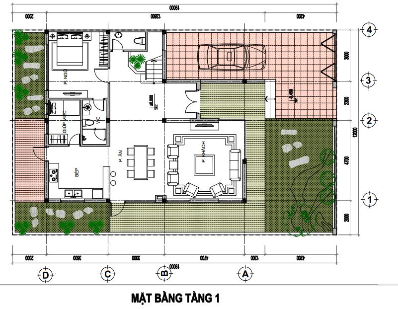 Tasco Xuân Phương - Thiết kế biệt thự đơn lập - T1