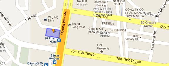 Sunshine center Phạm Hùng - Vị trí