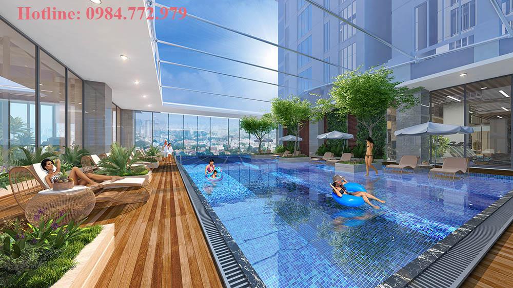 Bể bơi bốn mùa - Sun grand city ancura