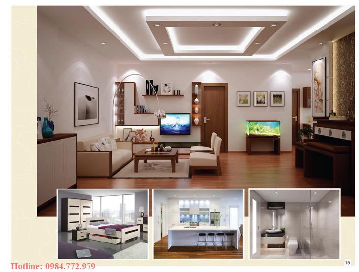 Thiết kế căn hộ loại A, 3PN và phối cảnh 3D căn hộ Lavender Đại Mỗ