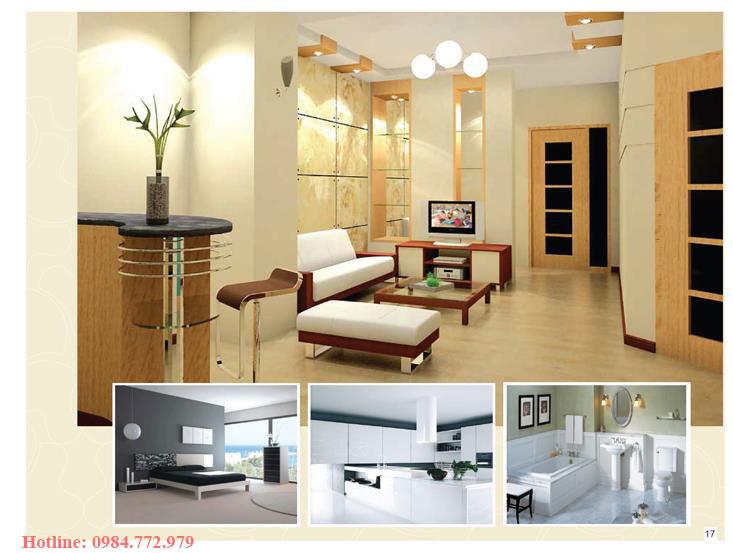Thiết kế căn hộ loại B, 3PN và phối cảnh 3D căn hộ Lavender Đại Mỗ