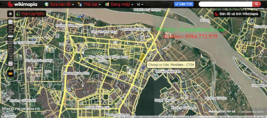 Vị trí Westlake trên bản đồ vệ tinh