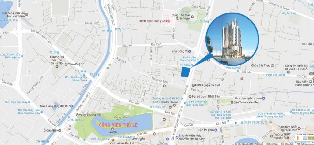 Vị trí chung cư Liễu Giai Tower