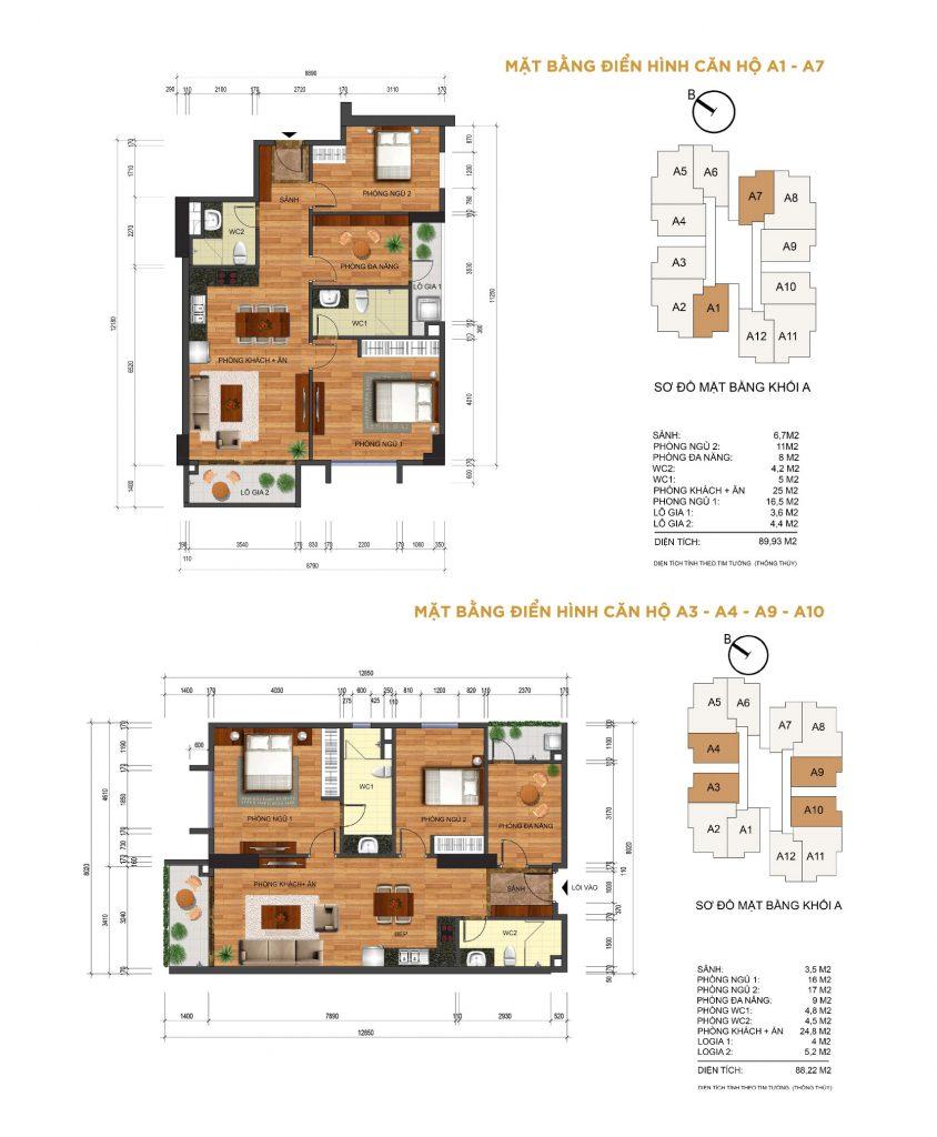 Thiết kế căn 2 phòng ngủ Thống Nhất Complex