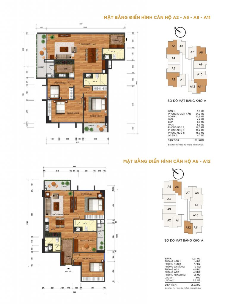 Thiết kế căn hộ 3 phòng ngủ Thống Nhất complex