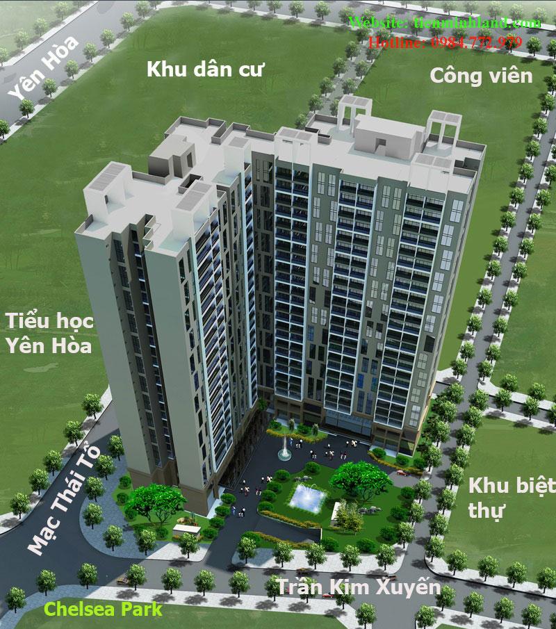 Phối cảnh tổng thể dự án chung cư E2 Yên Hòa