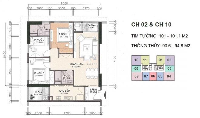 Căn CH2,CH10 chung cư A10 Nam Trung Yên