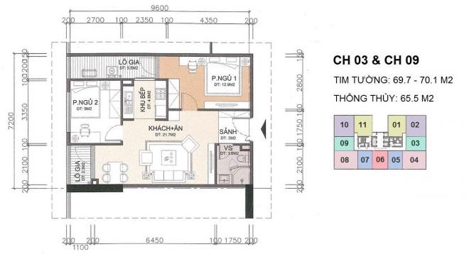 Căn hộ CH3, CH9 chung cư A10 Nam Trung Yên