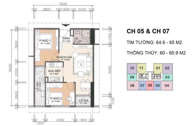 Căn hộ CH5, CH7 chung cư A10 Nam Trung Yên