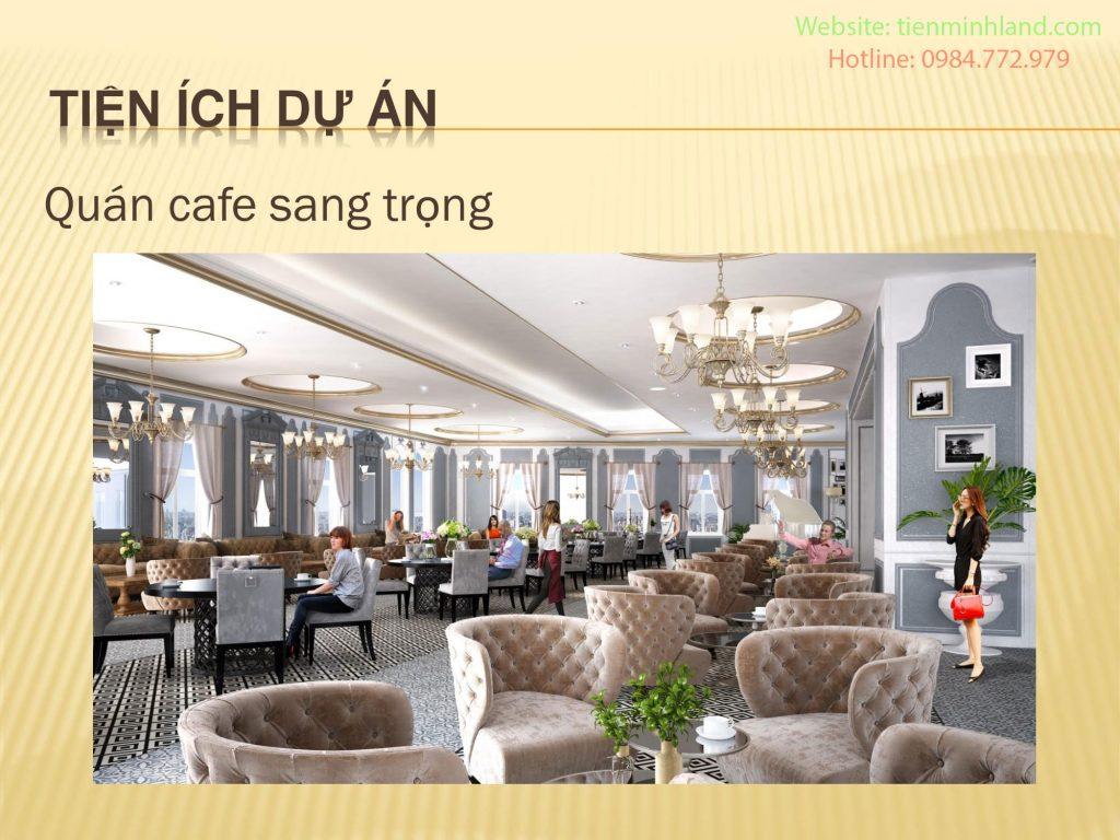 sảnh caffe dự án Hateco Laroma