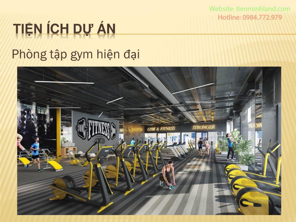 Phòng tập Gym hiện đại dự án Hateco Laroma