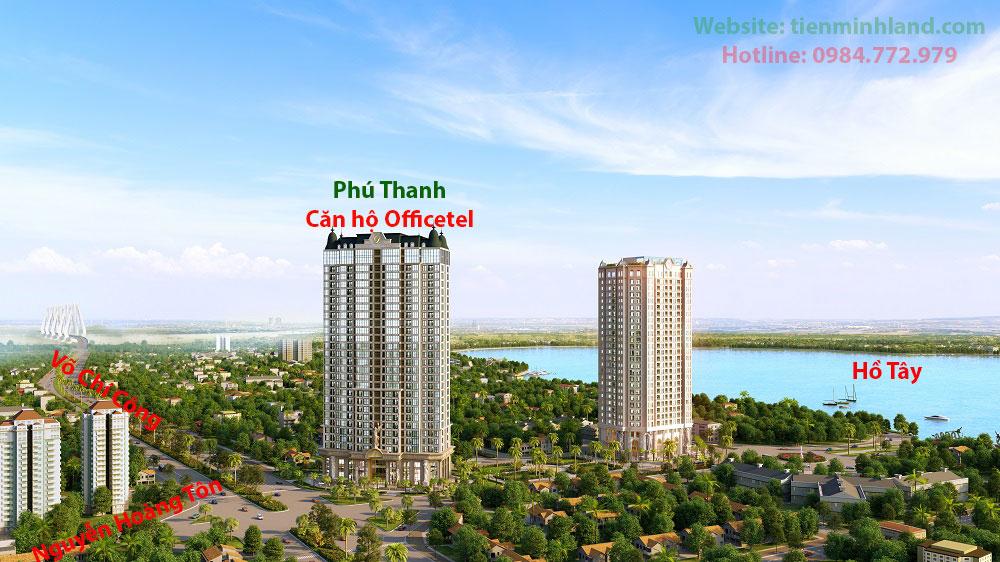 Phối cảnh căn hộ Officetel Tây Hồ - Phú Thanh