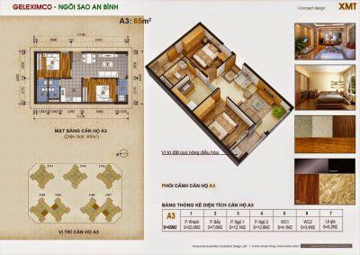 Chung cư Green star - thiết kế căn hộ tòa A3