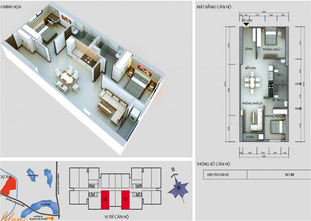 Tòa C chung cư vinaconex 2- Căn 4 và 7
