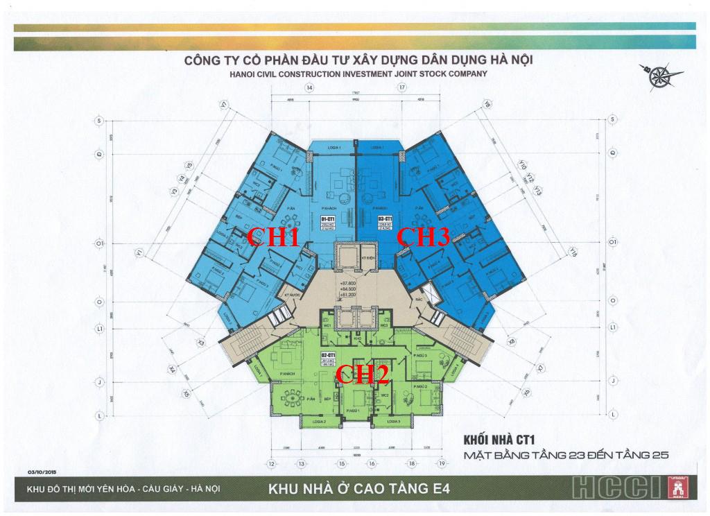Chung-cư-park-view-city-yên-hòa-CT1-mặt-bằng-tầng-23-25