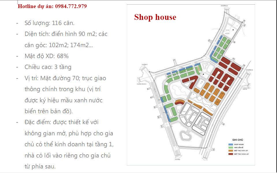 Khu nhà ở sinh thái - Shop house