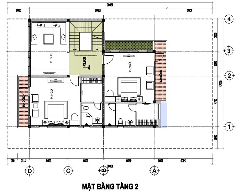 Tasco Xuân Phương - Thiết kế biệt thự đơn lập - T2