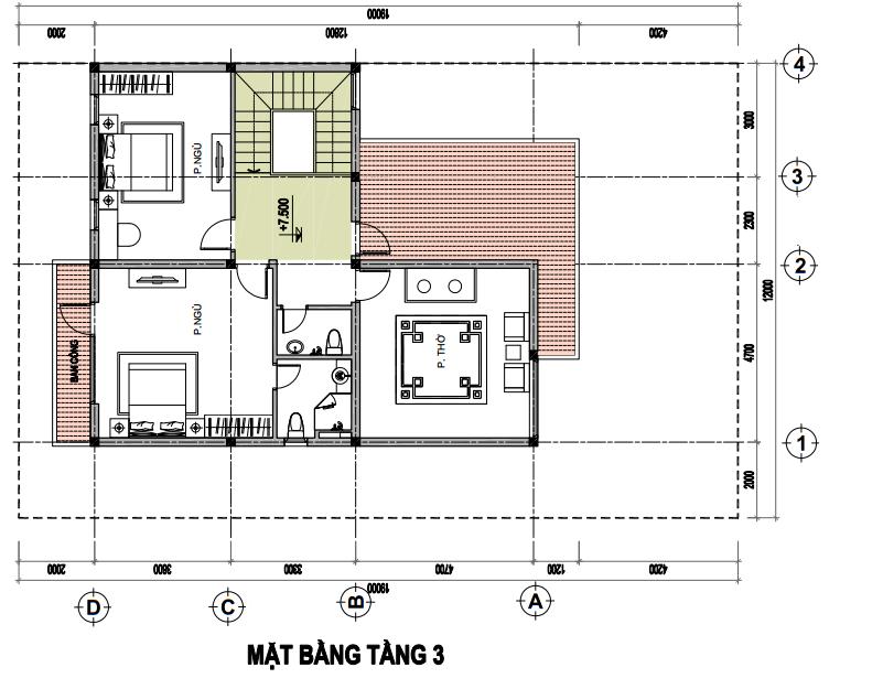 Tasco Xuân Phương - Thiết kế biệt thự đơn lập - T3