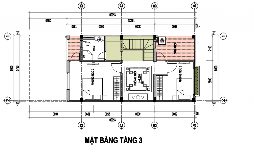 Tasco Xuân Phương - Thiết kế biệt thự song lập - T3