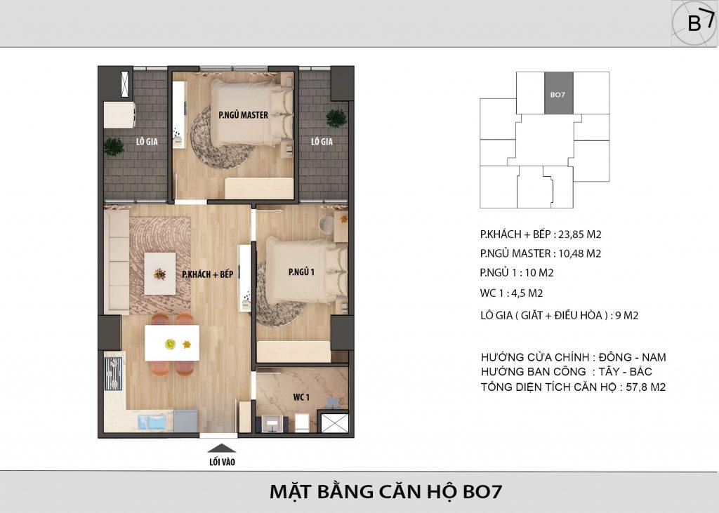 Chung cư HongKong Tower - Căn hộ BO7