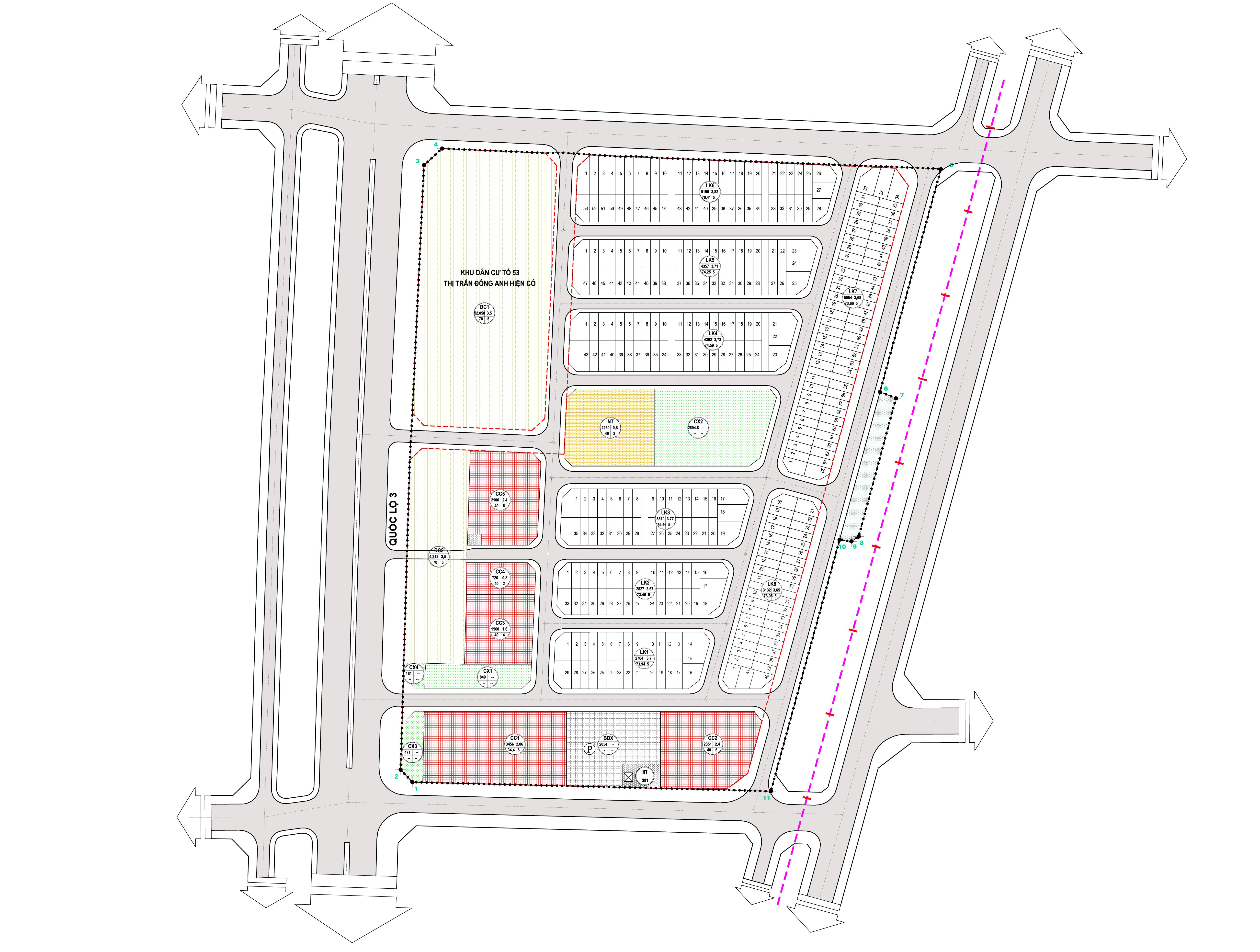 Khu thương mại, dịch vụ, nhà ở 1-5 - sơ đồ dự án