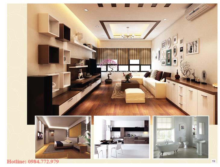 Thiết kế căn hộ loại C, 3PN và phối cảnh 3D căn hộ Lavender Đại Mỗ