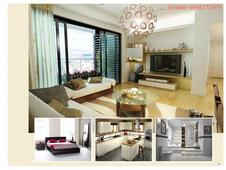 Thiết kế căn hộ loại Đ, 3PN và phối cảnh 3D căn hộ Lavender Đại Mỗ