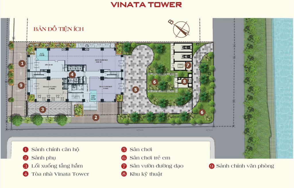 Mặt bằng bố trí Vinata Tower