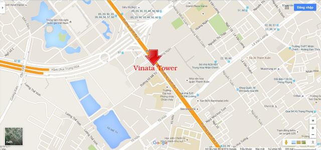 Vị trí VINATA TOWER