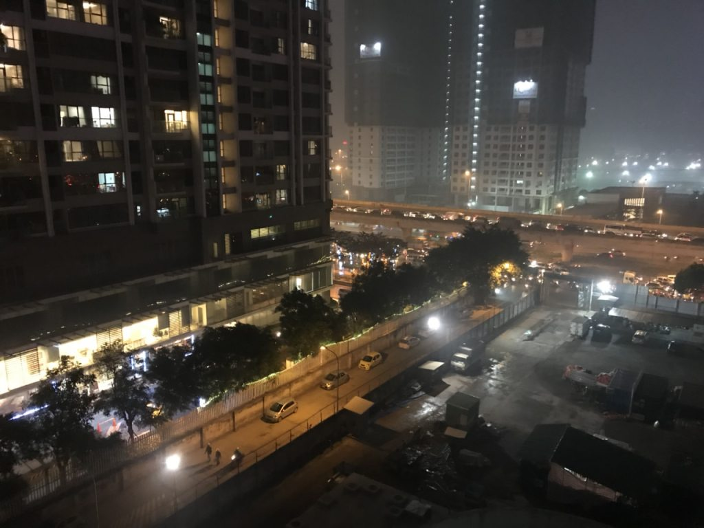 Hình ảnh view từ Vinata Tower về đêm