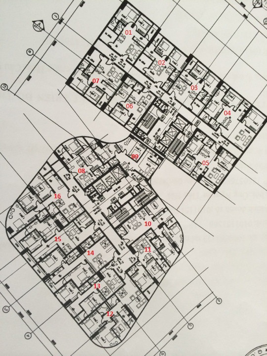 Mặt bằng thiết kế căn hộ chung cư Thành An