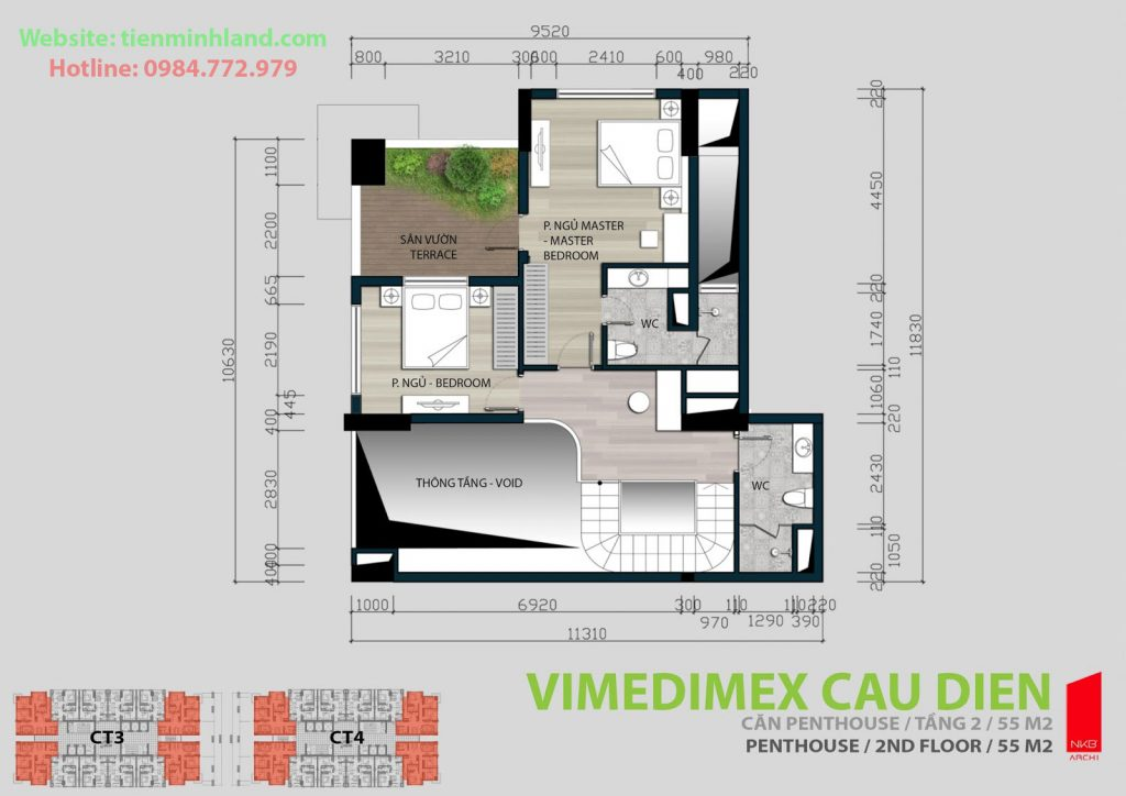 Thiết kế căn hộ Duplex chung cư Xuân Hòa Mỹ Đình
