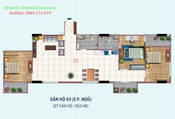 Thiết kế căn hộ Liễu Giai Tower